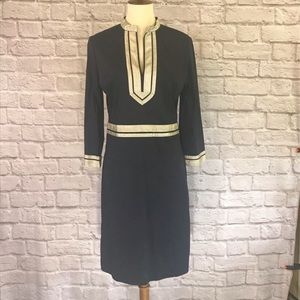 Tory Burch Black cotton sheath dress size 8